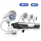 Zmodo 4CH 960H Real-Time Security System & 4 700TVL Day Night Cameras