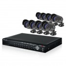 16CH H.264 DVR & 8 CMOS 480 TVL 30ft Night Vision Indoor/Outdoor Bullet Security Cameras
