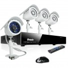 8CH DVR Security Camera System with 500GB HDD & 4 Day and Night Outdoor CCTV Surveillance Cameras