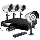 8CH CCTV Home Security System with 4 Outdoor CCD Night Vision Surveillance Cameras-500GB HDD