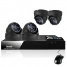 CCTV 4CH D1 DVR 4 Vandal-proof Outdoor Color CCD Camera Home Surveillance System with 1TB Hard Drive