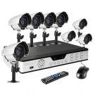 CCTV 8CH DVR Security Surveillance System with 1TB HD & 8 Outdoor Video Night Vision Bullet Cameras
