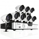 8 Channel Full CIF Real Time DVR Security System with 8 CMOS Weatherproof Cameras No Hard Drive