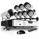 8 Channel CIF Real-Time DVR & 8 Sony CCD Camera Security Surveillance System with 500GB Hard Drive