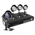CCTV 8CH Security Surveillance Camera System with 4 Color CMOS Night Vision Cameras-500GB HD