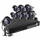 CCTV 8CH  Surveillance Camera System with 8 Color Outdoor Night Vision Cameras-1TB Hard Drive