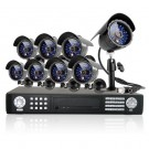 16CH DVR Sony CCD Outdoor CCTV Surveillance System with 8 Night Vision Cameras - No Hard Drive
