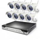 Zmodo 8 Channel 960H CCTV Security System 1TB HDD & 8 600TVL IR Camera