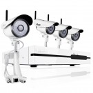 ZMODO 4CH Network NVR System with 4 Wireless Day Night IP Cameras - 1TB HD