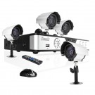 ZMODO 8 CH CCTV Surveillance DVR Outdoor Camera System No Hard Drive