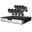 8CH H.264 DVR with 8 CMOS 480 TVL 30ft IR Outdoor Security Cameras 
