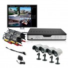 ZMODO 4CH CCTV Security Outdoor IR Camera DVR System w/ No Hard  Drive Pre-installed