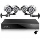 Zmodo 4CH 4 Camera Complete Security System w/ 4 600TVL Cameras