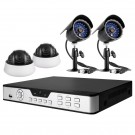 Complete 8 Channel Expandable DVR Video Surveillance System w/ 4 Sony CCD Day/Night Security Cameras & 500GB HDD