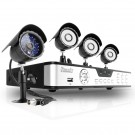 4CH Real-Time Surveillance DVR Sony Video CCD Outdoor CCTV Security Camera System - 1TB Hard Drive