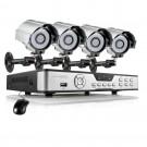 Zmodo 4CH DVR Surveillance System & 4 Indoor Outdoor 600TVL Cameras