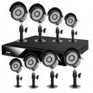 8 Channel Video Surveillance System with 8 Sony IR CCD Weatherproof Security Cameras -500GB Hard Drive