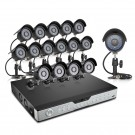 Zmodo 16CH Video Security System & 16 600TVL Indoor Outdoor IR Cameras