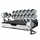 16CH H.264 DVR 1TB HDD & 16 Sony CCD 420TVL 65ft IR Outdoor Cameras