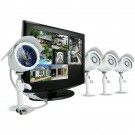 8 Channel Security Surveillance System with 19'' built-in LCD and 4 sony CCD Bullet camera-500GB HD