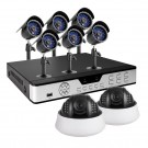 8 Channel Smart Security DVR w/ 8 Sony CCD Day/Night Cameras Surveillance System --No HDD Installed
