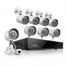 8 CH 720P NVR System with 8 IP Cameras