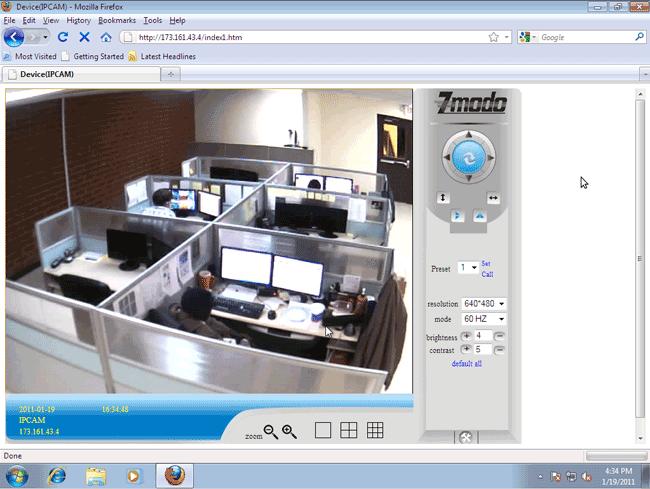 Zmodo live remote viewing demo