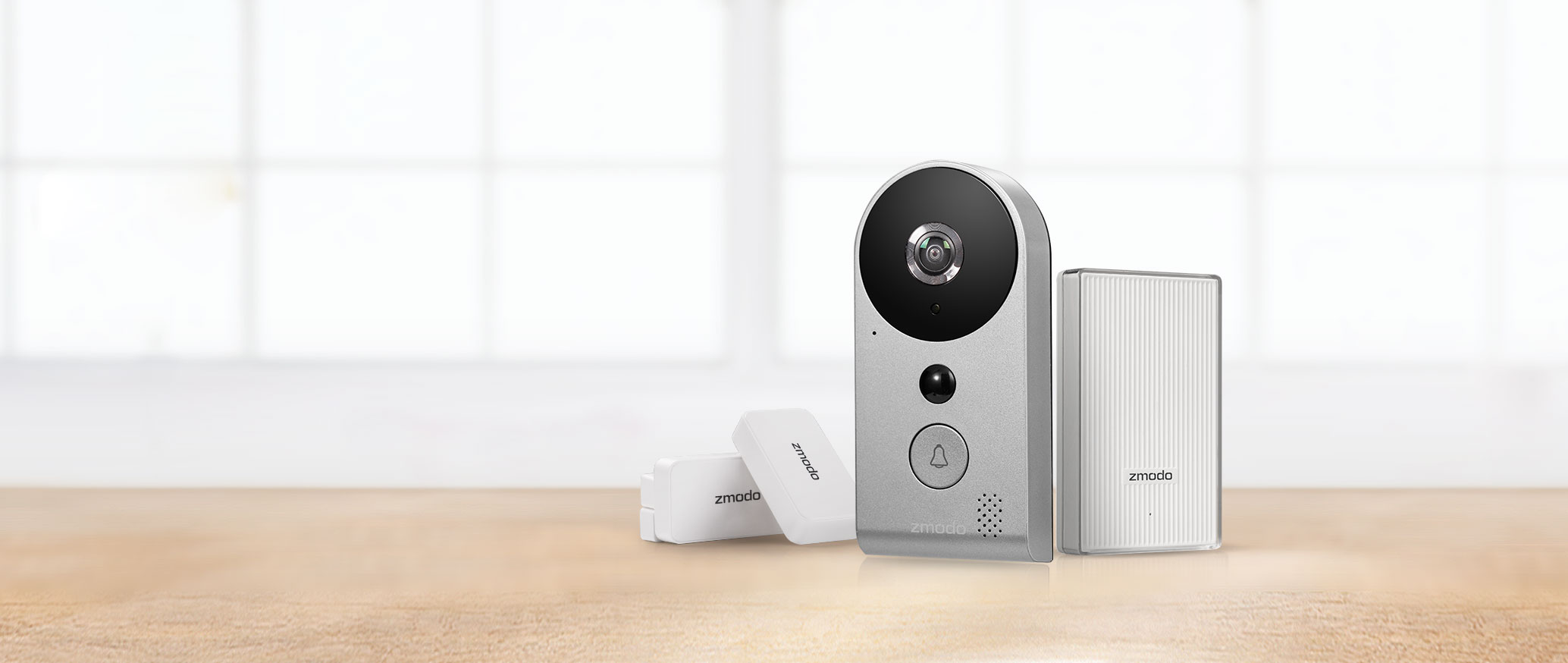zmodo greet wi fi video doorbell home package. Black Bedroom Furniture Sets. Home Design Ideas
