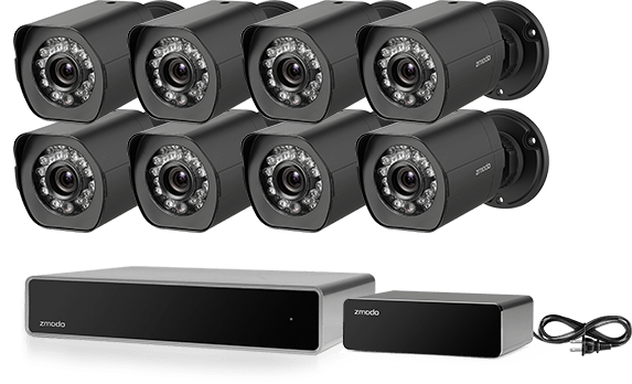 12384dff7a7 Zmodo 8-Channel 1080p Home and Business Security Camera System with ...