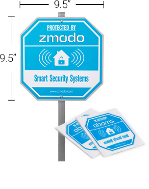 Zmodo Yard Warning Sign & Window Stickers for Home Security